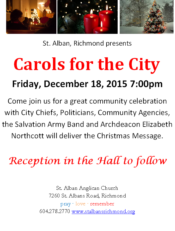 Poster for Carols of the City 2015