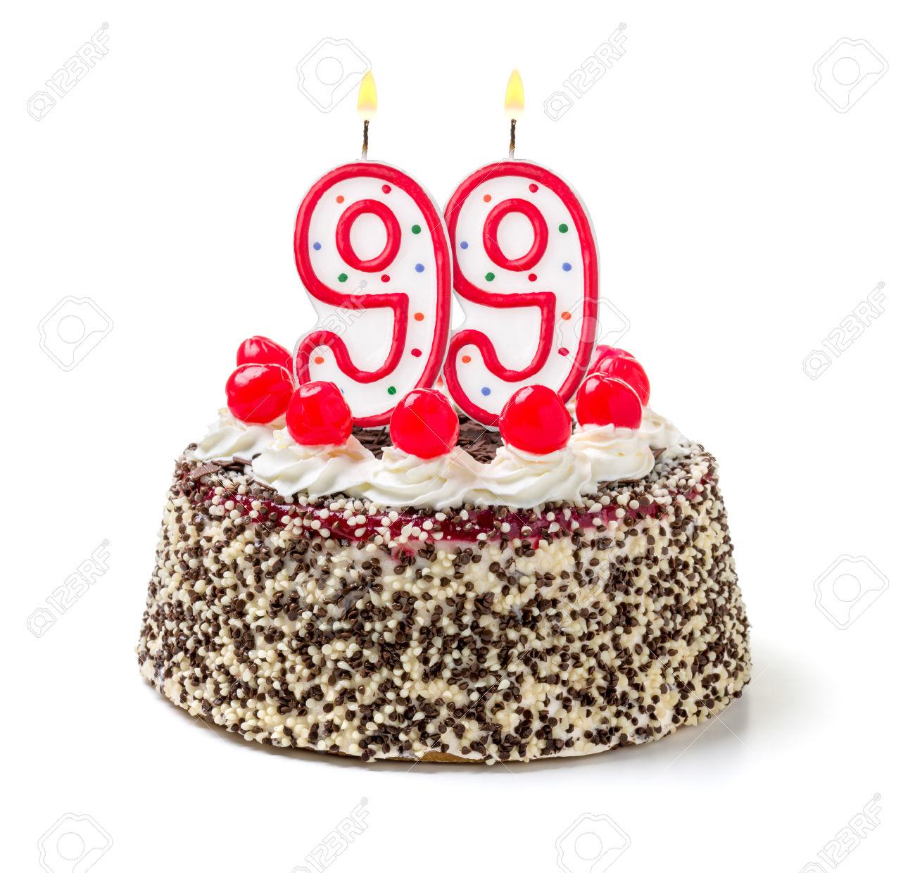 Burning Candles Birthday Cake